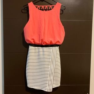 NWT Kohl's Speechless Ivory and Coral Dress